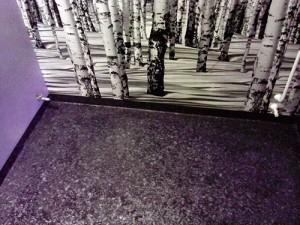 badrumstapet med fotomotiv